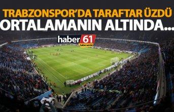 Trabzonspor'da taraftar üzdü! Ortalamanın altında…