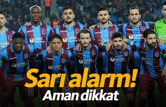 Trabzonspor'da sarı alarm! 5 futbolcu sınırda