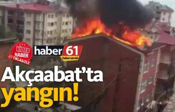 Akçaabat'ta yangın!