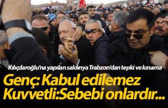 Kılıçdaroğlu'na saldırıya Trabzon'dan...