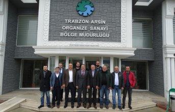 Sanayici heyetinden Arsin OSB'ye ziyaret