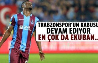 Trabzonspor'un kabusu devam ediyor! En çok da Ekuban!