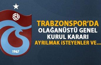 Trabzonspor'da Olağanüstü Genel Kurul kararı!