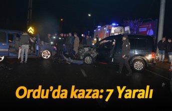 Ordu'da kaza: 7 Yaralı