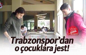 Trabzonspor'dan çocuklara jest!
