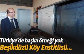 Türkiye'de başka örneği yok!  Beşikdüzü Köy Enstitüsü...