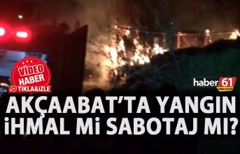 Trabzon'da yangın! Kundaklama şüphesi!