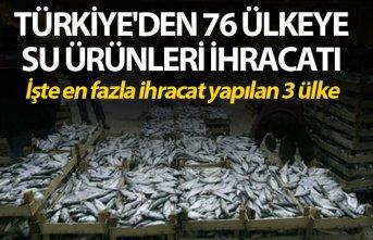 Türkiye'den 76 ülkeye su ürünleri ihracatı - İşte en fazla ihracat yapılan 3 ülke