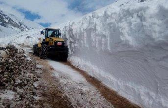 Rize'de karlı yollar açıldı