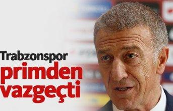 Trabzonspor primden vazgeçti