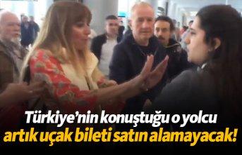 Türkiye'nin konuştuğu o yolcu artık uçak bileti...