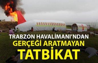 Trabzon Havalimanı'nda gerçeği aratmayan tatbikat