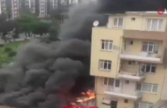 Yangın motosikletleri hurdaya çevirdi