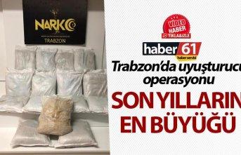 Trabzon'da uyuşturucu operasyonu - Son yılların...