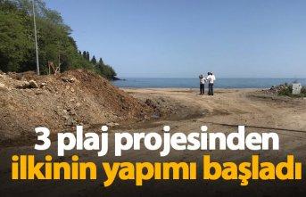 Araklı'da plajların yapımı başladı