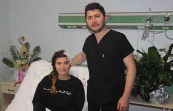 Genç hemşireyi felç olmaktan kurtaran operasyon