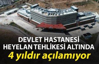 Devlet Hastanesi heyelan tehlikesi altında - 4 yıldır açılamıyor
