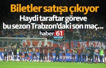 Trabzonspor Beşiktaş maçı biletleri satışa çıkıyor
