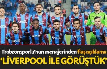 Trabzonsporlu futbolcunun menajerinden flaş açıklama