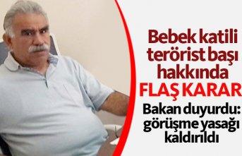 Bakan Gül açıkladı: Öcalan'ın yasağı...