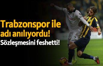 Trabzonspor ile adı anılıyordu! Sözleşmesini...
