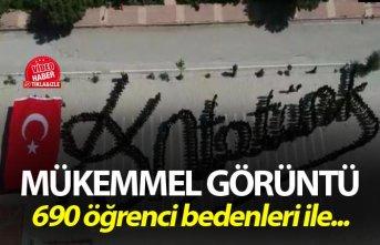 Liseliler, bedenleriyle Atatürk'ün imzasını oluşturdu