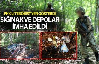 PKK'lı terörist yer gösterdi, sığınak ve...