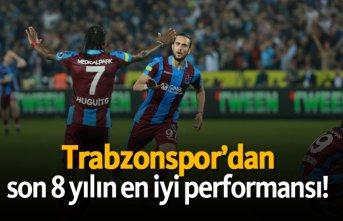 Trabzonspor'dan son 8 yılın en iyi performansı!