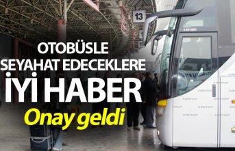 Otobüsle seyahat edeceklere iyi haber - Onay geldi