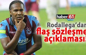 Rodallega'dan sözleşme açıklaması!