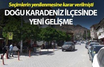 Seçimlerin yenileneceği Doğu Karadeniz ilçesinde...