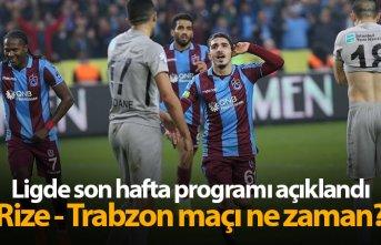 İşte Süper Lig'de son haftanın programı