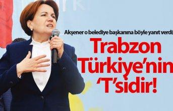 """Meral Akşener: Trabzon Türkiye'nin 'T'sidir """""""