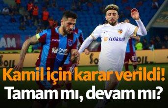 Trabzonspor'da Kamil Ahmet kararı