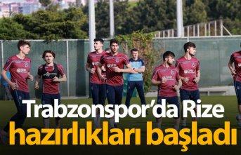 Trabzonspor Rize hazırlıklarına başladı