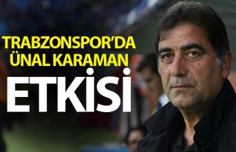 Trabzonspor'da Ünal Karaman etkisi