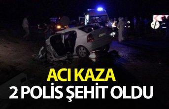 Trafik kazası: 2 polis memuru şehit oldu, 2 kişi...