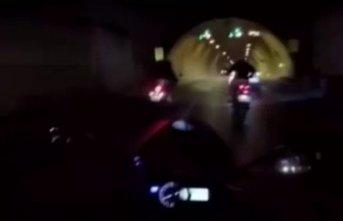 Dolmabahçe Tüneli'nde tek teker kazası