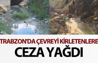 Trabzon'da çevreyi kirletenlere ceza yağdı