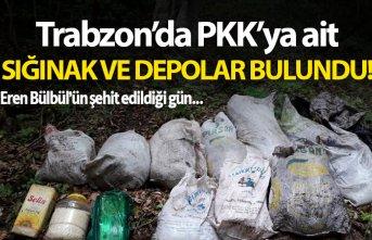 Trabzon'da PKK'ya ait sığınak ve depolar...