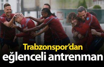 Trabzonspor'dan eğlenceli antrenman
