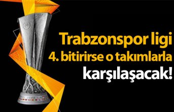 Trabzonspor ligi 4. sırada bitirirse o takımlarla karşılaşacak!