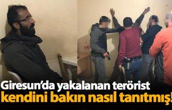Giresun'da yakalanan terörist kendini böyle...