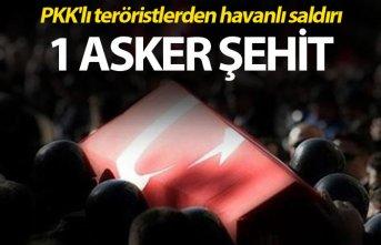 PKK'lı teröristlerden havanlı saldırı: 1...