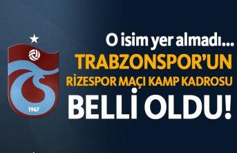 Trabzonspor'un Rizespor maçı kamp kadrosu belli...