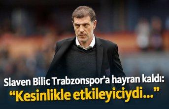 """Slaven Bilic Trabzonspor'a hayran kaldı: """"Kesinlikle etkileyiciydi..."""""""