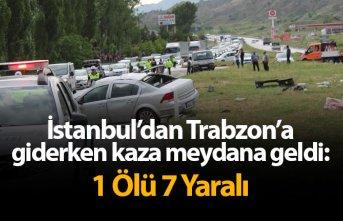 İstanbul'dan Trabzon'a giderken kaza meydana geldi: 1 Ölü 7 Yaralı