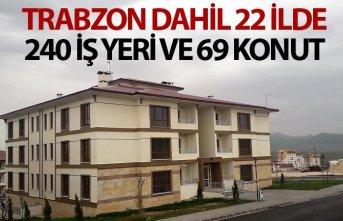 Trabzon dahil 22 ilde 240 iş yeri 69 konut satışa...