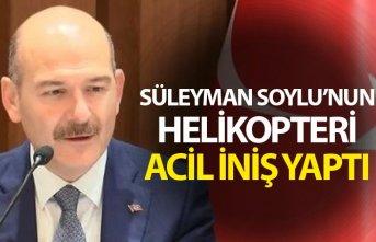 Süleyman Soylu'nun helikopteri acil iniş yaptı