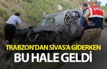Trabzon'dan Sivas'a giderken kaza - 4 yaralı